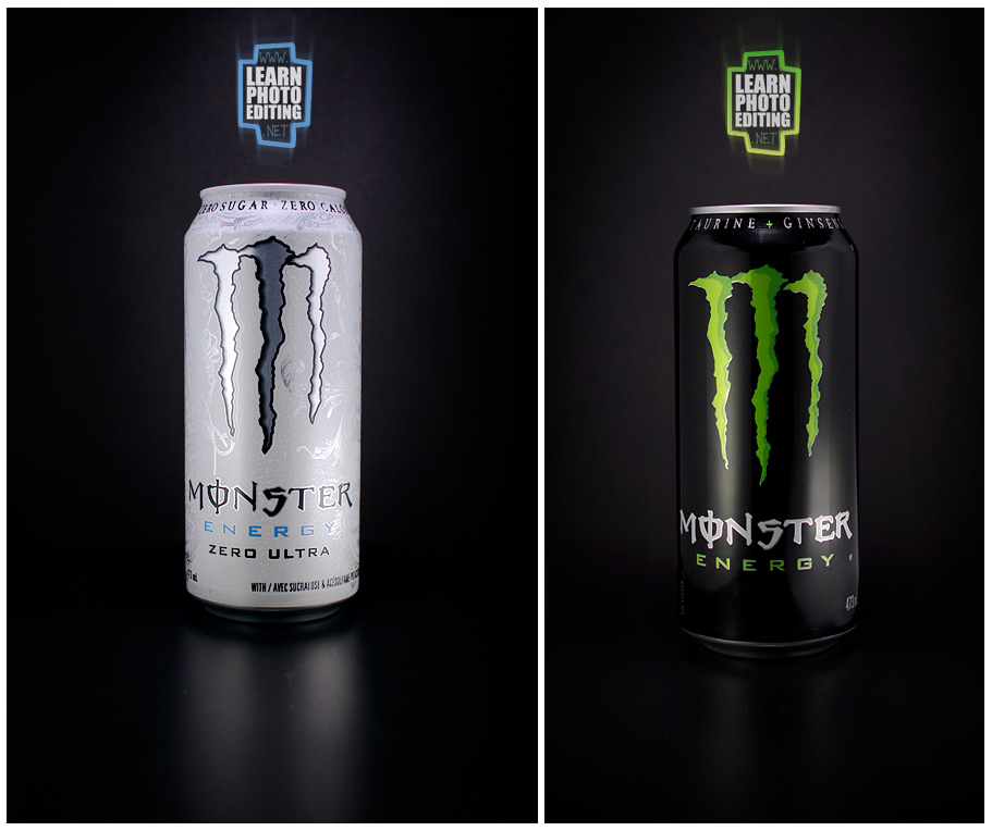 THE MONSTER CANS / BLACK BACKGROUND - TUTORIAL. DIY Lightbox